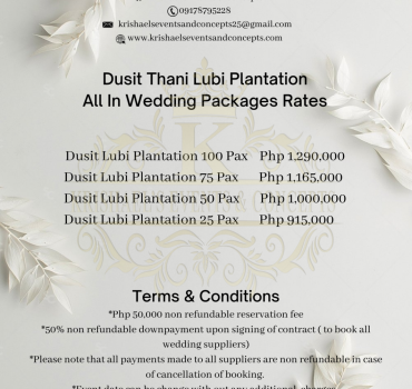 Dusit Thani Lubi Plantation All In Wedding Packages Rates
