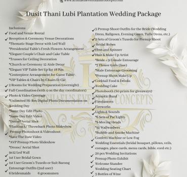 Dusit Thani Lubi Plantation Wedding Package
