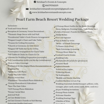 2022 Pearl Farm All in Wedding Packages
