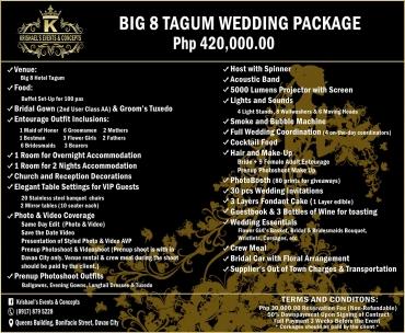 Big-8-Tagum Davao Wedding Package
