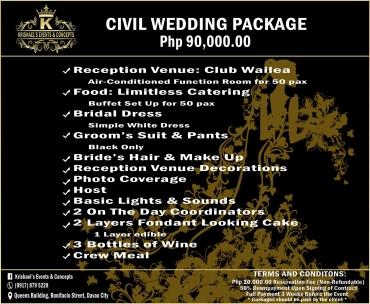 Civil-Wedding  Davao Wedding Package