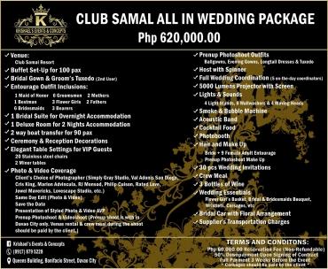 Club-Samal Davao Wedding Package