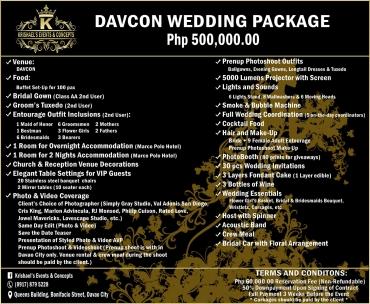 Davcon Davao Wedding Package