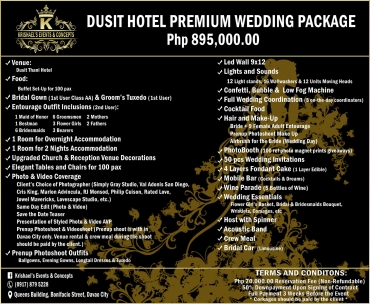 Dusit-Hotel-Premium Davao Wedding Package