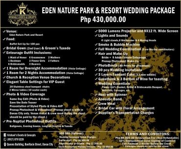 Eden-Nature-Park Davao Wedding Package