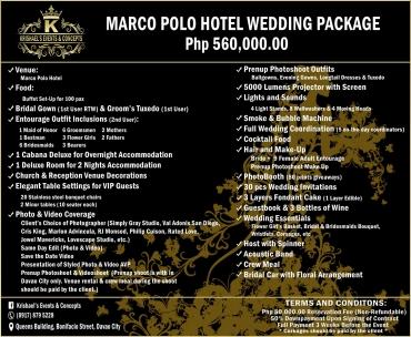 Marco-Polo-Hotel-560K Davao Wedding Package
