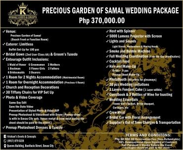 Precious-Garden Davao Wedding Package