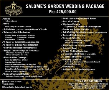 Salomes-Garden Davao Wedding Package