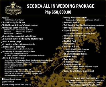 Secdea Davao Wedding Package
