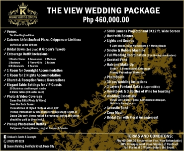 The-View Davao Wedding Package