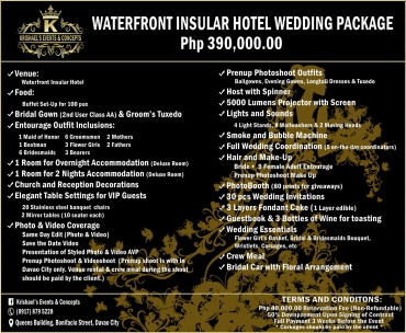 Waterfront-Insular-Hotel Davao Wedding Package