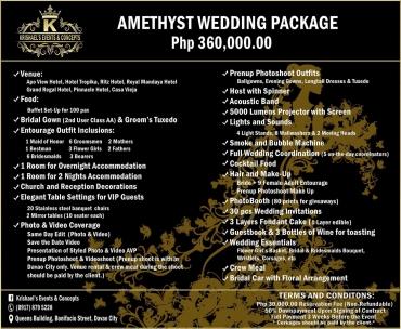 amethyst Davao Wedding Package