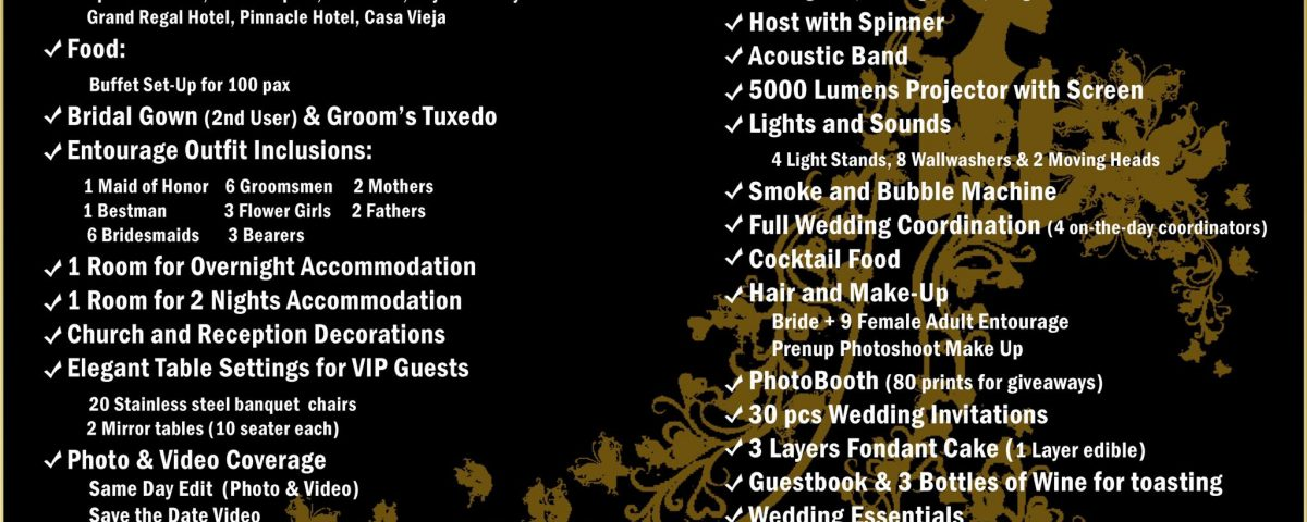 2020 All In Wedding Package