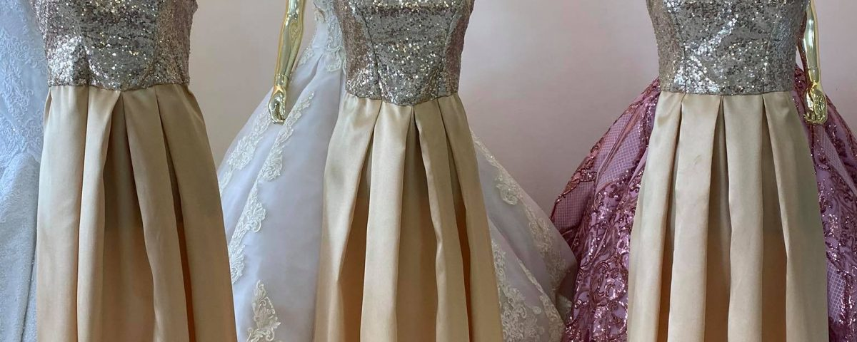 New Arrival Gold Bridesmaid Dress. Available for all Wedding Gown Packages