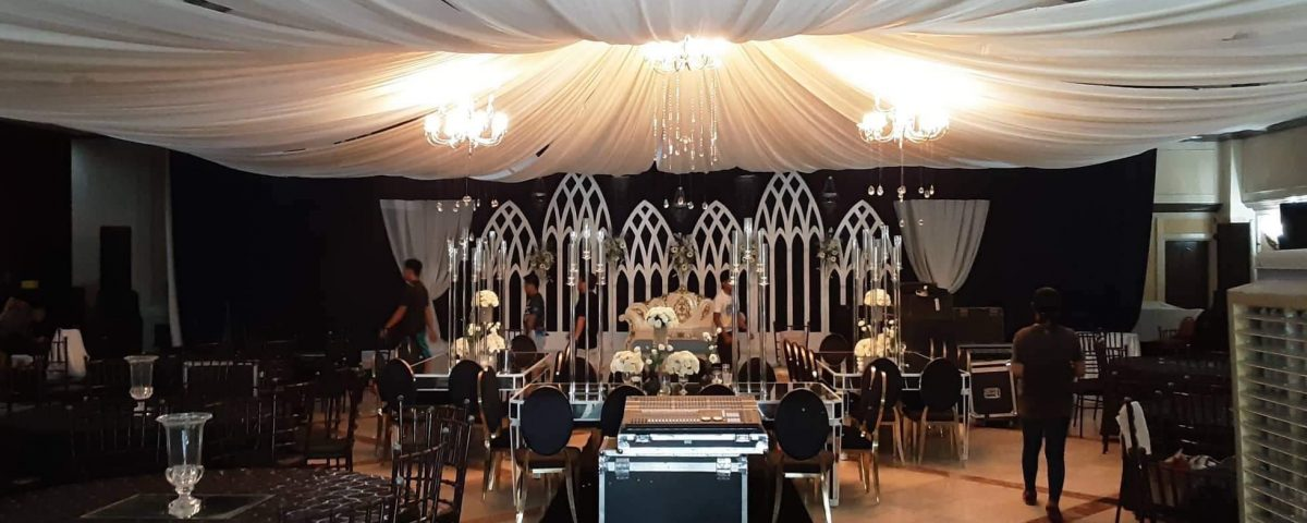 Setting Up for our All In Black Wedding at the Apo View Hotel. We will post the ...