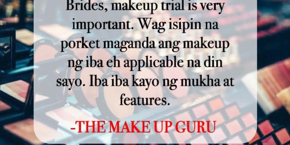 Another Wedding Etiquette Reminder   #TheMakeupGuru #Learn #Share  CTTO The Make...