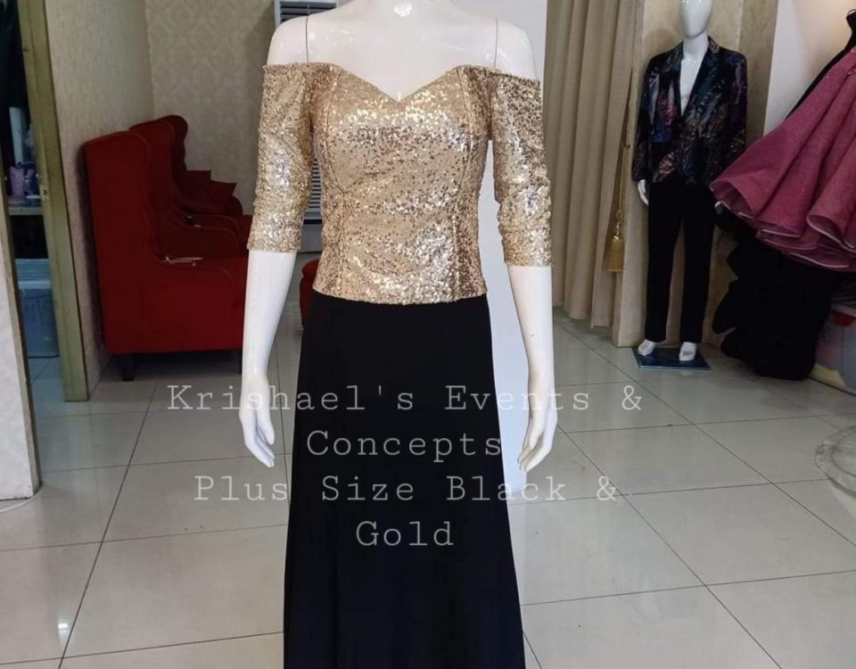 Black Gold Dresses   Model | Razel Manlangit