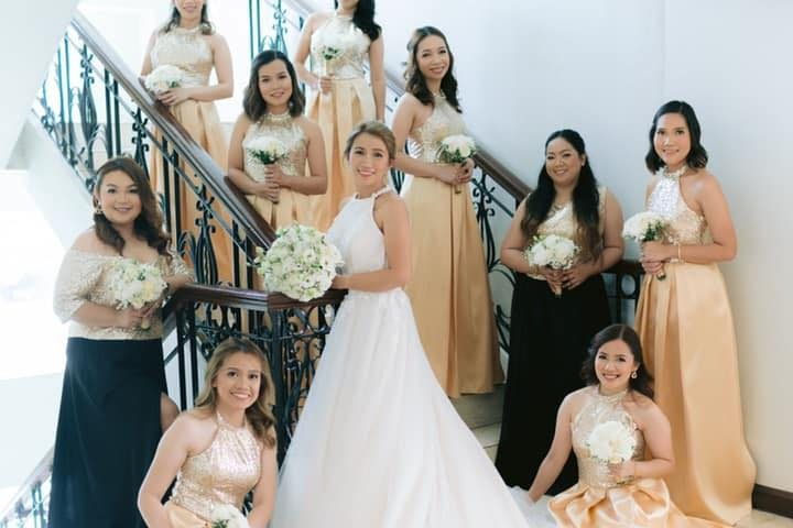 Gold Bridesmaid Dresses by Krishael's Events & Concepts  Organic Studios