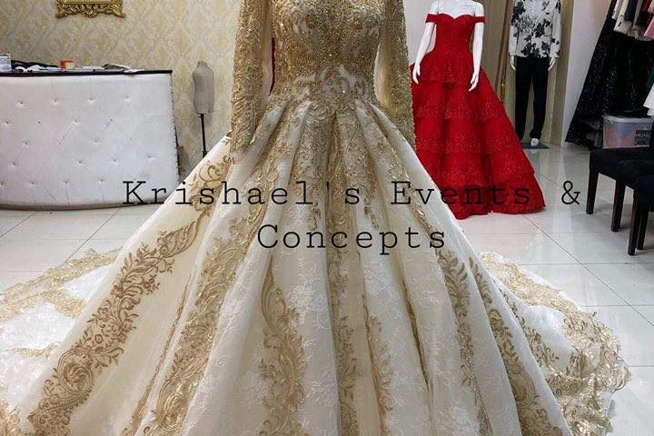 Muslim Wedding Gown available for first user. Inquire noq