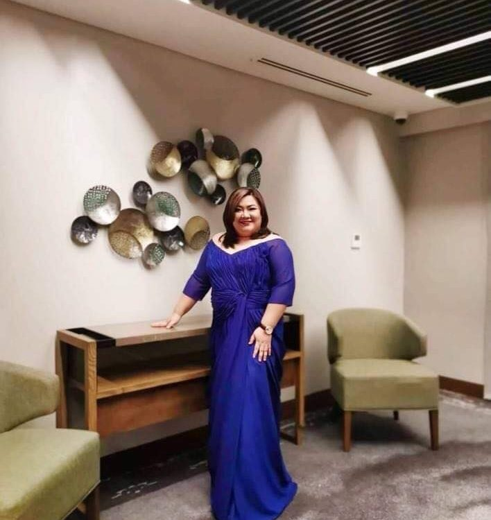 The gorgeous Vice Mayor of Sta. Maria, Hon. Joyce Mariscal wearing a gown from K...