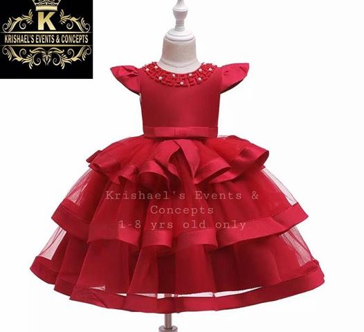 ARRIVING SOON NEW FLOWER GIRLS DRESS  (for 1 to 8 years old only)   First Come F...