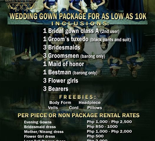 Affordable Non Package Rates  Like our page   Krishael's Events & Concepts  ...