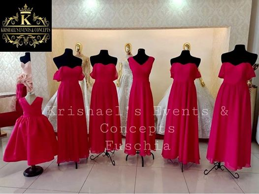 New Arrival Fuschia Bridesmaid Dress   Like our page | Krishael's Events & C...