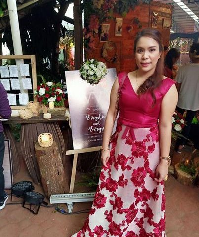 Wine Red Dress by Krishael's  Like our page | Krishael's Events & Concepts  ...