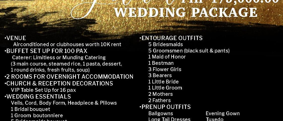 OUR NEW 175K GARNET WEDDING PACKAGE!   Like our page | Krishael's Events & C...