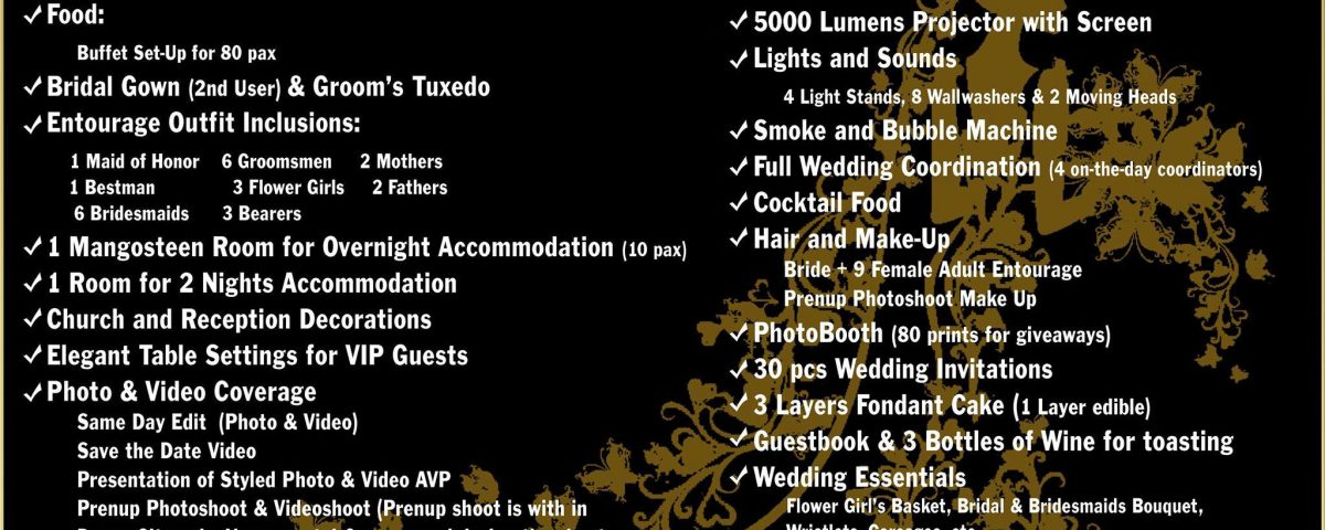 Our new All In Wedding Package... Wine Woods Apo Kapatagan Wedding Package.