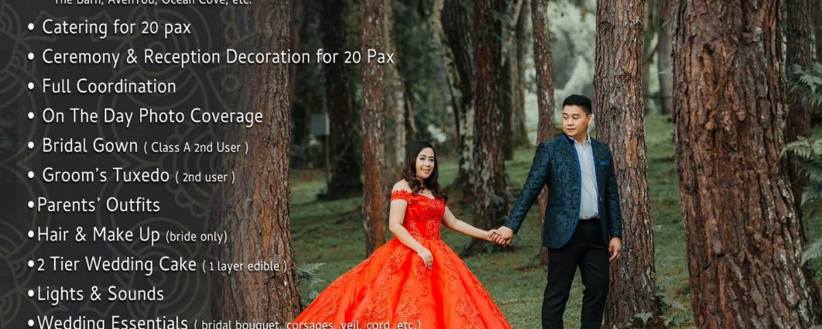 Intimate Wedding Packages for 2020 & 2021.