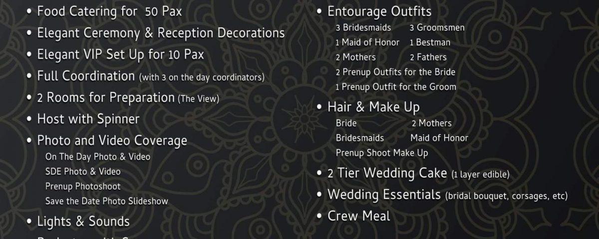 50 Pax Wedding Package
