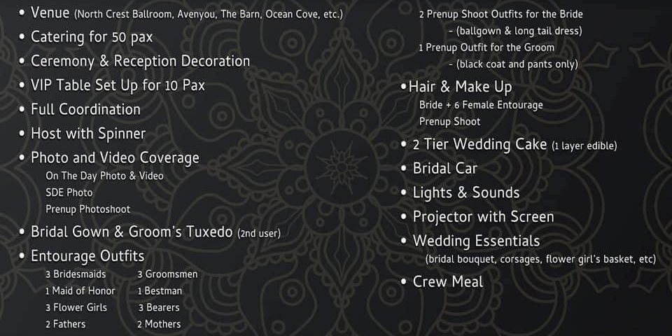 All In Intimate Wedding Packages