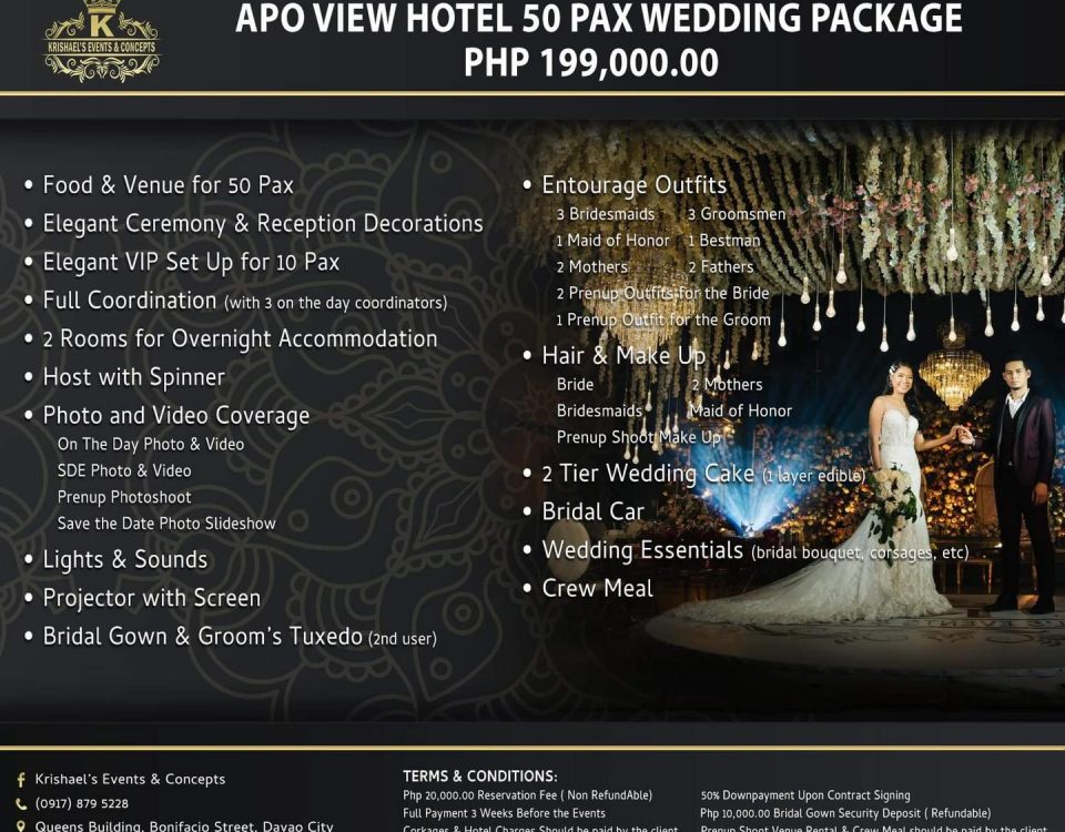 Apo View Hotel 50 Pax Wedding Package