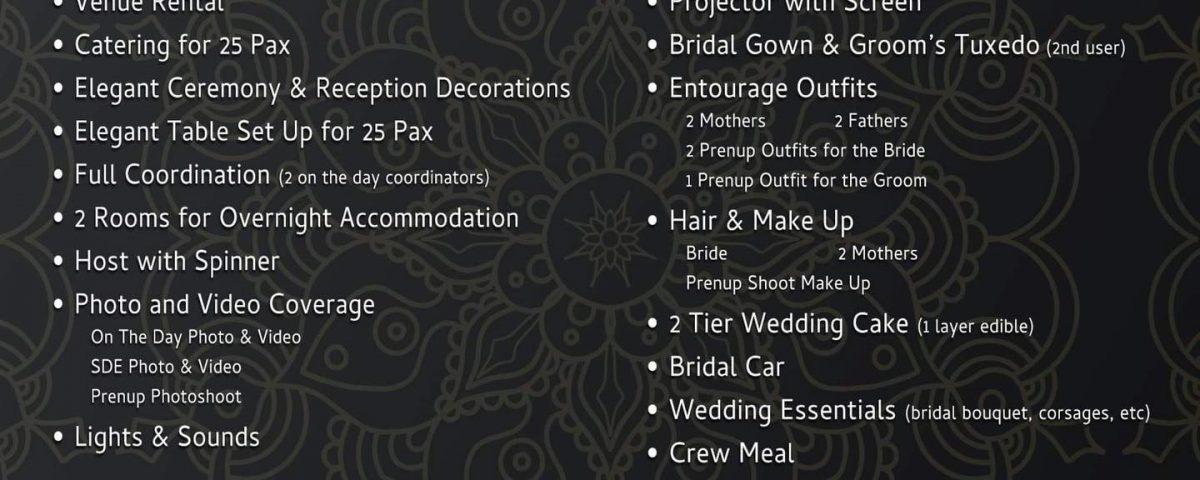Eden Nature Park & Resort Wedding Package