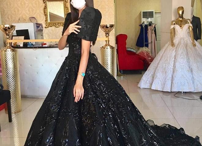 Krishael's Bridal Queen 2019 Ybonne Ortega in black Ivy Aguas Filipiniana Ball G...