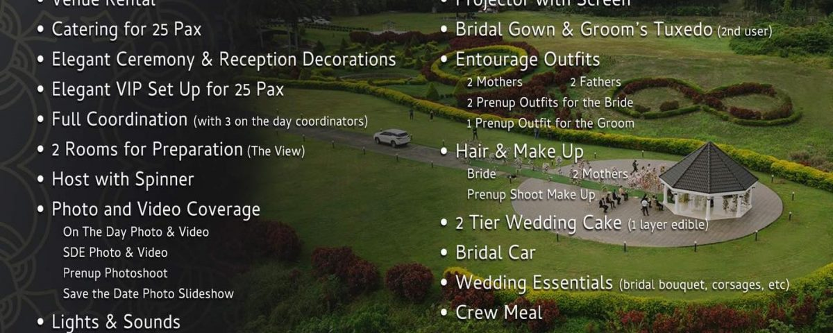 The View Wedding Packages
