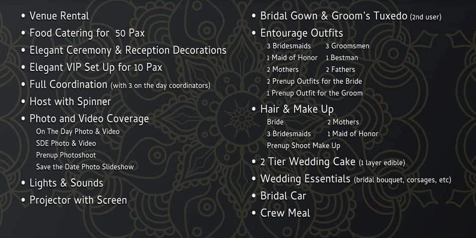 Updated Intimate Wedding Packages