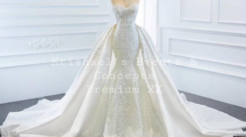 Premium XX  Wedding Gown with detachable train arriving December 2020. Available...