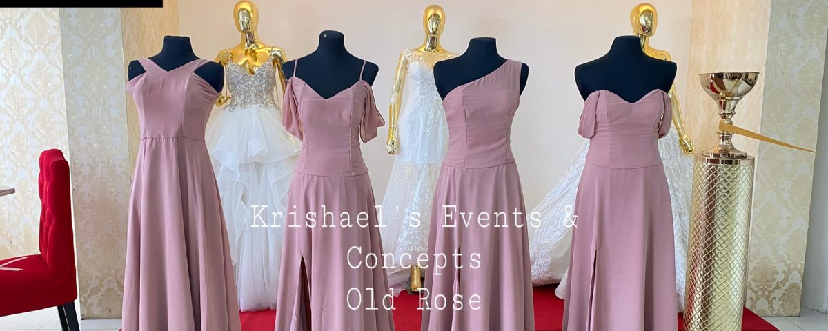 New Arrival Bridesmaid Dress- Old Rose Set