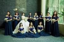 """Bild könnte enthalten: 8 Personen, Personen, die stehen und Hochzeit, Text """"KRISHAEL"""